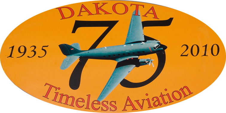 27002 6852 Dakota 1935-2010 Timeless Aviation logo on 6852 bruce perkins