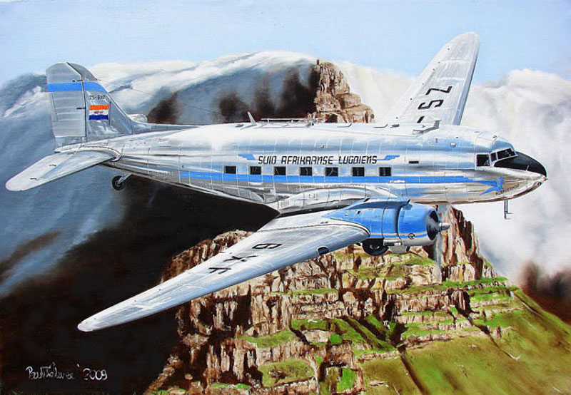Dakota Art Paul Treleven 12107 DC-3 ZS-BXF 2