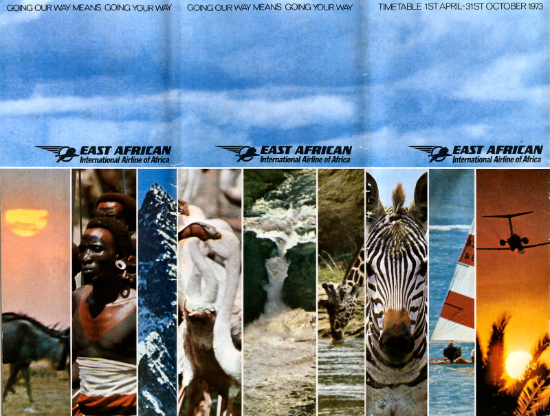 EAA timetable 00 cover April 1973 Phil Rix