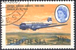 Stamp DC-3 Rhodesia