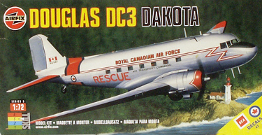 Airfix 05031 Douglas DC-3 Dakota BEA or Royal Canadian Air Force decals 72 scale