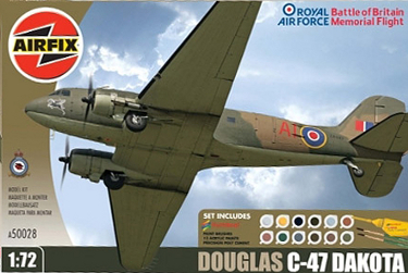 Airfix A50028 Douglas C-47 Dakota BBMF Battle of Britain Memorial Flight 72 scale
