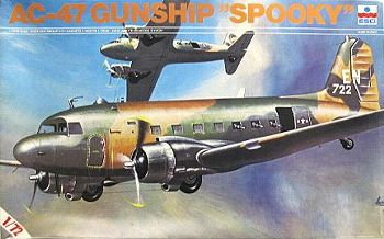 ESCI 9012 Douglas AC-47 Spooky Gunship 1st SOS 14th Special Operations Wing South Vietnam 72 scale