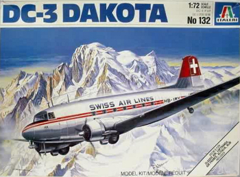 Italeri 132 Douglas DC-3 Dakota Swiss Air Lines 72 scale