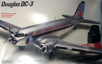 Testors 627 Douglas DC-3 Fly Eastern Air Lines 72 scale