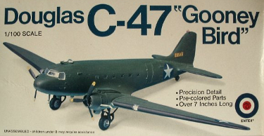 Entex 8562 Douglas C-47 DC-3 Gooney Bird 100 scale