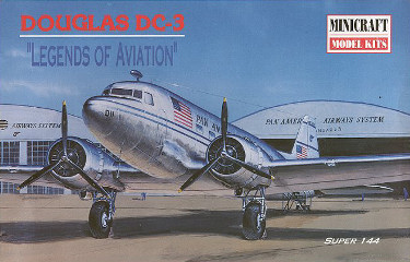 Minicraft 14434 Douglas DC-3 Pan American Airways System 144 scale