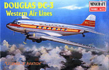 Minicraft 14458 Douglas DC-3 Western Airlines 144 scale