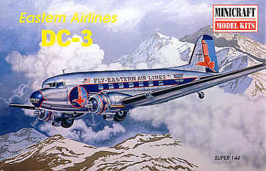 Minicraft 14477 Douglas DC-3 Eastern Airlines 144 scale