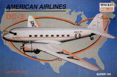 Minicraft 14490 Douglas DC-3 American Airlines 144 scale