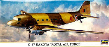 Hasegawa 10623 Douglas C-47 Dakota Royal Air Force RAF 200 scale