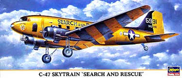 Hasegawa 10631 Douglas C-47 Skytrain Search and Rescue 200 scale