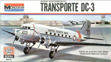 Monogram 7590 Douglas DC-3 United States Navy Mexican Issue 90 scale