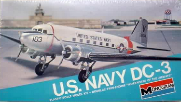 Monogram 7590 US Navy DC-3 (R4D-5) 90 scale