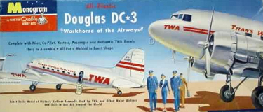 Monogram PA9-98 Douglas DC-3 TWA Trans World Airlines 90 scale (2)
