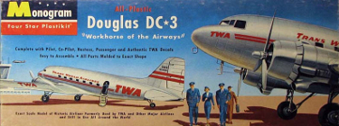 Monogram PA9-98 Douglas DC-3 TWA Trans World Airlines 90 scale