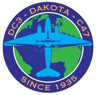 DC-3 C-47 Dakota 80th Anniversary Ysterplaat-00a DC-3 C-47 since 1935 logo